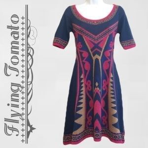 ⭐️Flying Tomato Knit Sweater Dress Aztec Tribal SS